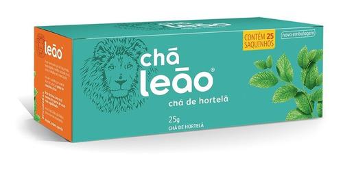 Chá Leão Ervas - Hortelã Em Sachês - 25ud