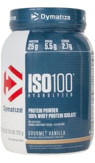 Whey Protein Iso100 725g (1,6 Lbs) - Dymatize Nutrition