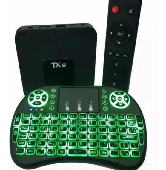 Conversor Transformar Sua Tv Em Smart Tx9 3gb 32gb+teclado