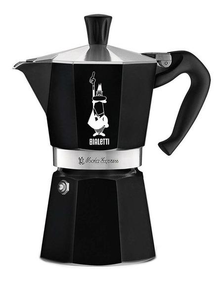 Cafetera Bialetti Moka Express 6 Cups Negra