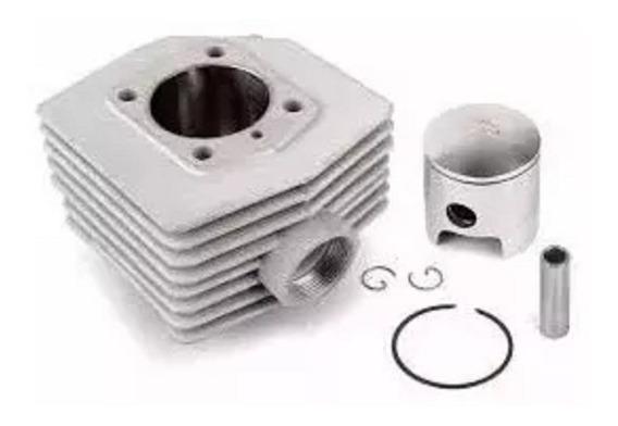 Cilindro Mobilete Kit Com Pistão E Anéis 60cc Mobylette