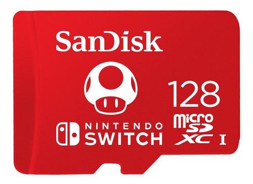 Micro Sd Xc 128gb Sandisk Nintendo Switch Edicion Roja