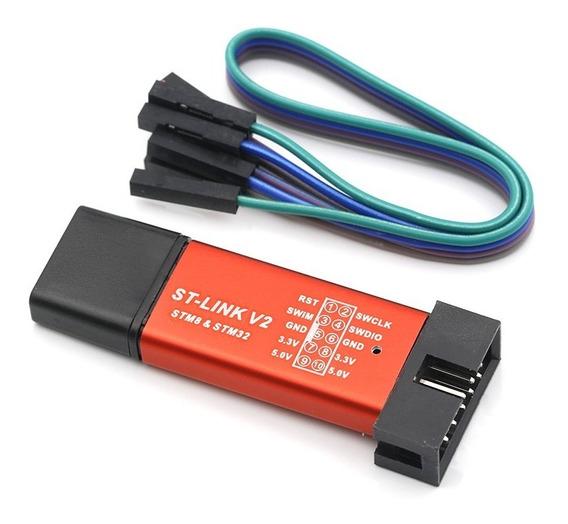 Programador Gravador St-link V2 Stm8 Stm32 Mcu (000475)