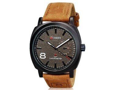Relógio De Pulso Elegante Unisex Com Alça De Couro