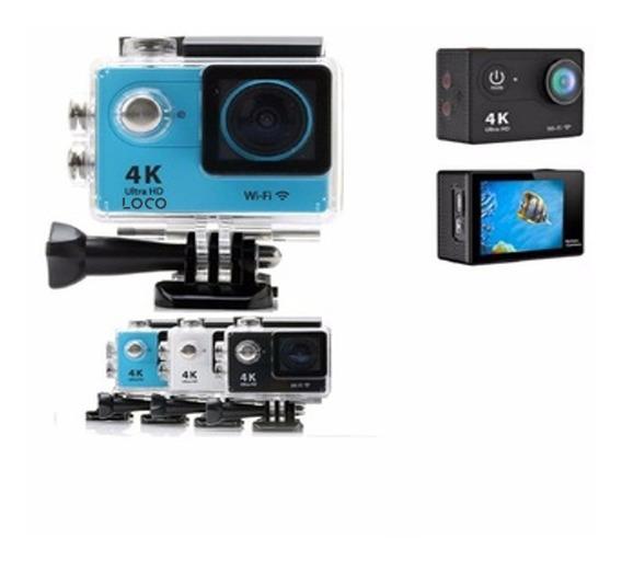 Action Camera Loco Wi-fi 4k 1080p Prova D