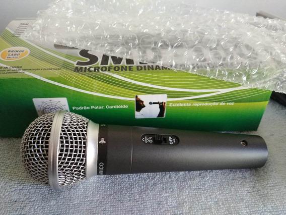 Microfone Dinâmico C/ Fio Dylan Smd-100