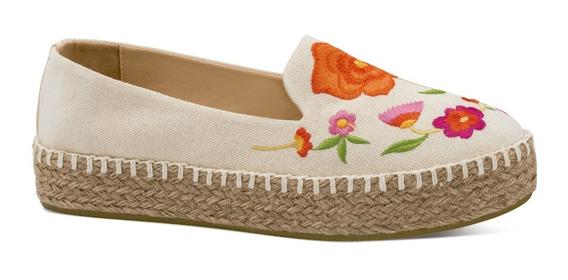 Hispana Zapato Alpargatas Casual Piso Textil Flores 2512751