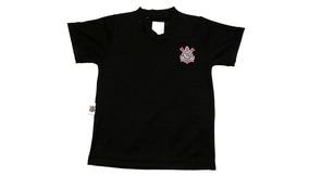 Camiseta Corinthians Rêve Dor Decote V Masculina Preta