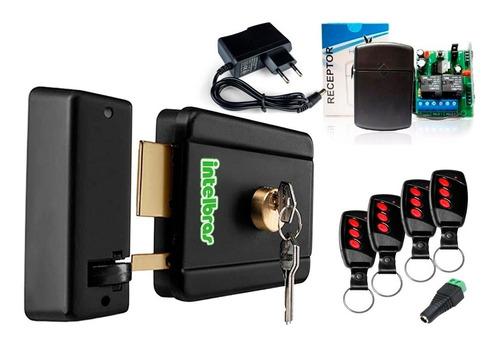 Kit Fechadura Elétrica Intelbras  Fx500 Acionador C/ Controle 4  12v 3 Chaves Garantia A Vista