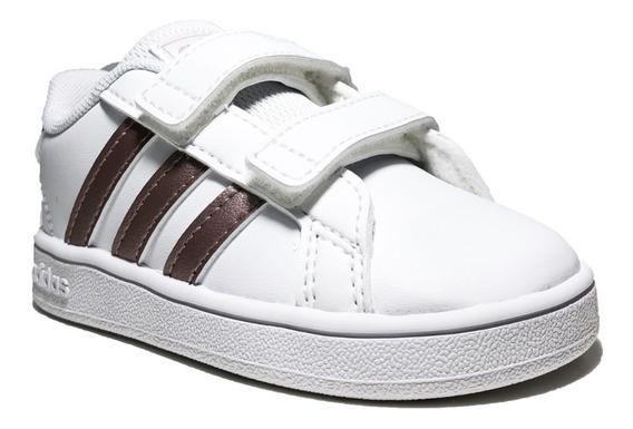 Tenis adidas Para Niñas Grand Court 1 Blanco Cobre Ef0116