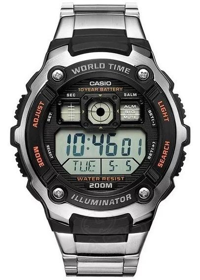 Relogio Casio Digital Masculino Ae2000wd Original Nf