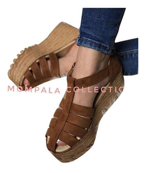 Sandalias Con Plataforma (10cm)