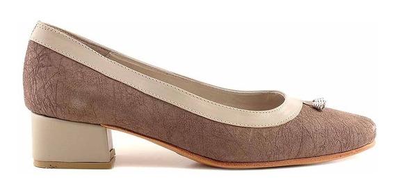 Zapato Cuero Mujer Briganti Chatita De Vestir - Mccz33010