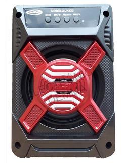 Parlante Bluetooth Portatil Con Usb+sd+led+ Radio