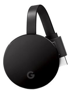 Streaming media player Google Chromecast Ultra negro con memoria RAM de 1GB