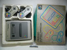 Super Famicom Pronto Jogar Caixa Isopor 2 Controles Fonte