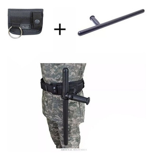 Kit Segurança Porta Tonfa + Cassetete Vigilante Militar