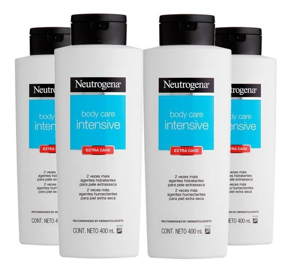 Kit 4 Loção Hidratante Neutrogena Intensive Extra Care 400ml