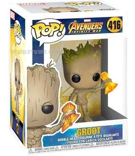 Funko Pop Groot Avengers Infinite War 416 Orig Scarlet Kids