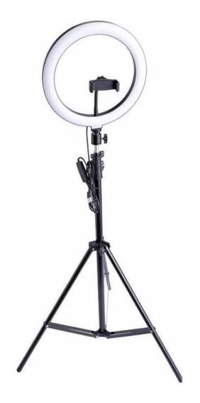 Ring Light Iluminador 26cm / 10 Polegadas + Tripé 1.75m