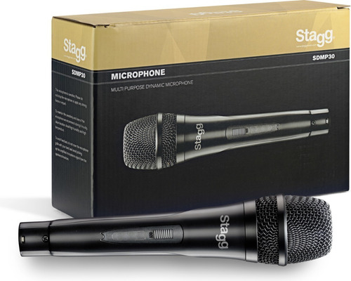Micrófono Dinámico Con Cable Canon/plug Stagg Sdmp30
