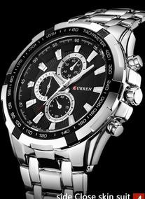 Relógio Quartzo Analógico 3 Mostradores Falsos