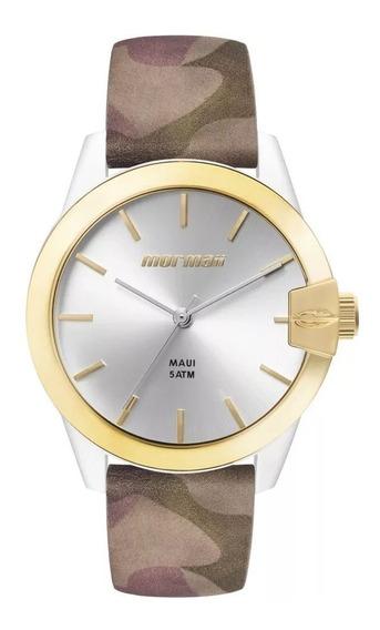 Relógio Mormaii Feminino Camuflado Couro C/nf Mo2035il/8b