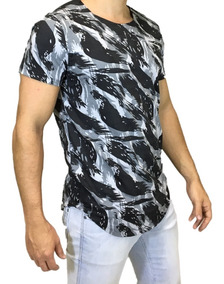 Camisa Oversized Longline Camuflada Exército Escaping