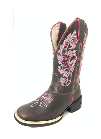 Bota Texana Tex Team-rosa