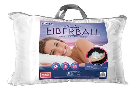 Almohada Antialergica Bondex Fiberball Tamaño Queen 70x50 Cm