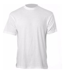 10 Camisa Lisa Branca 100% Poliester Para Sublimação Gola O