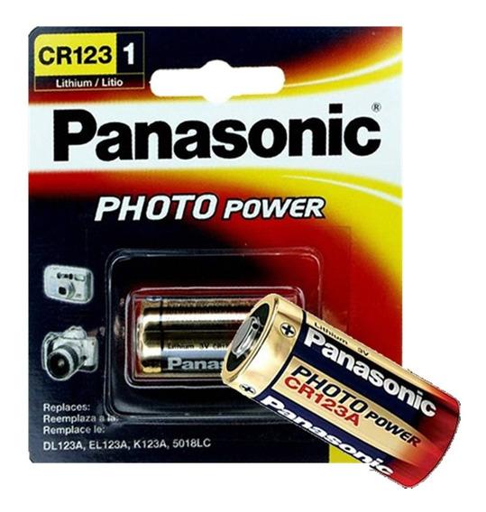 10 Blister Bateria 3v Cr123 Panasonic P/maquina Fotografica