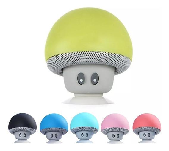 Mini Cogumelo Porttil Bt V4.1 Impermevel Speaker Sem Fio