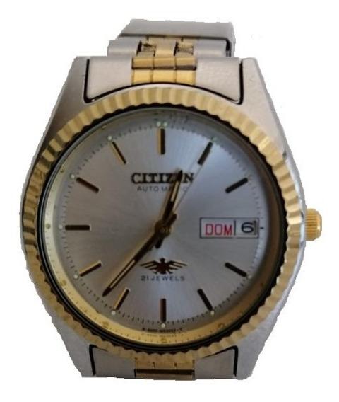 Reloj Automatic 21 Jewels Citizen De Los Años 80