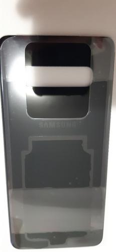 Tampa Traseira Galaxy S10 Plus G975 Preta Vidro Nova