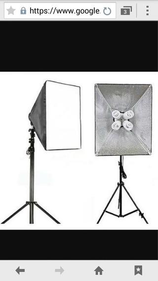 Estúdio Fotográfico Profissional Com Câmera Canon T3 E Lente