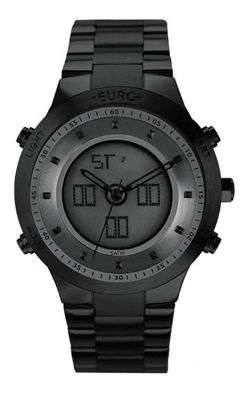 Relógio Euro Feminino Sporty Lux Preto