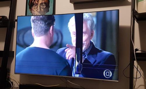 Imagem 1 de 2 de Abaixou Tv Samsung 55  Curva Retirada De Pecas Tela Trincada