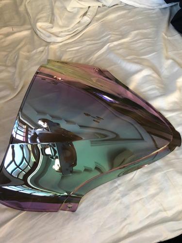Imagem 1 de 3 de Parabrisa Para Moto Hayabusa 2009 Até 2019 Na Cor Prata
