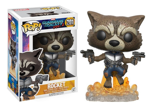 Funko Pop! Marvel #201 Guardians Galaxy 2 Rocket Nortoys