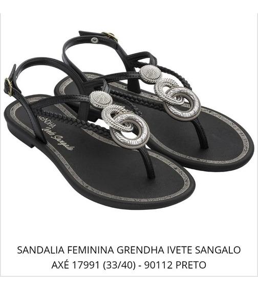 Sandália Grendha Ivete Sangalo Axé (35 Ao 39)-preto 17991
