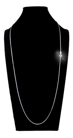 Cordão Italiano Super Fina Grumet 70cm 1mm 2,0 G Prata 925