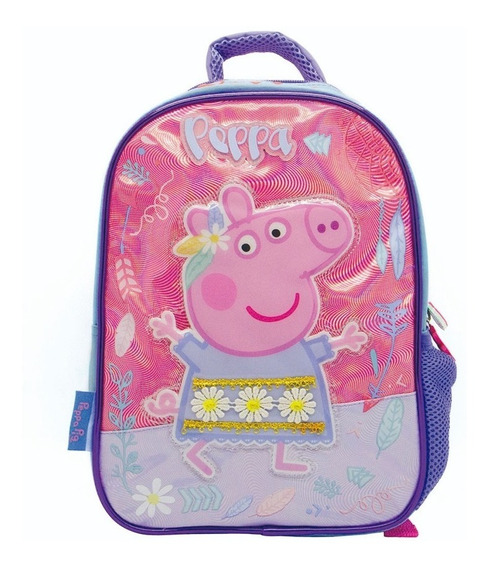Mochila Espalda Jardin Peppa Pig 3d Original Escolar Tutu