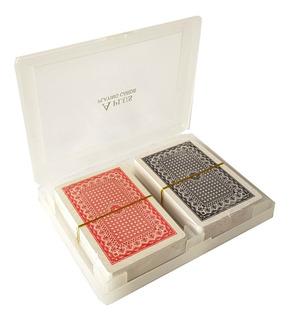 Baraja Cartas Poker Standard Pack 2 Estuche 100 % Plásticas