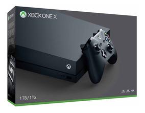 Xbox One X 1tb Edição Preto Lacrado Original 4k Bivolt