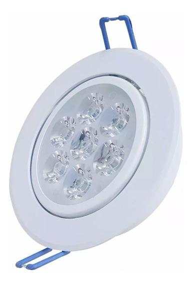 Kit 5 Spot Super Led Lampada Direcionável 7w Para Gesso