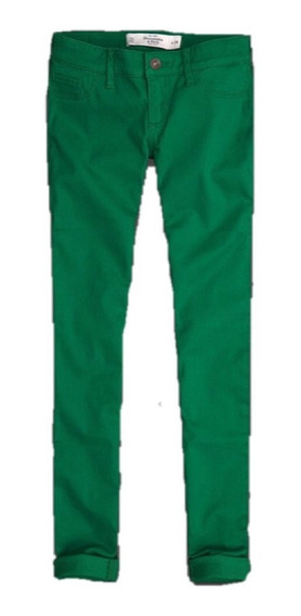 Jean Abercrombie And Fitch Verde! W30 L32 Nuevo! Made In Usa