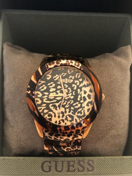 Relógio Feminino Guess Rose Gold Com Animal Print