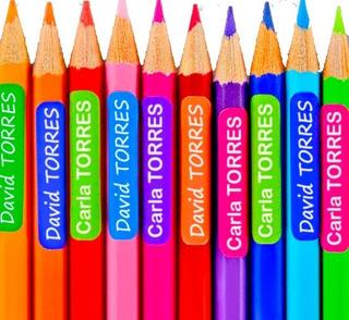 Etiquetas Stickers Adhesivas Marcar Útiles Colegio Niños