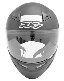 Capacete Motoqueiro Moto Rx7 Solid Preto Fosco 60